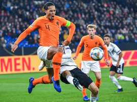 Van Dijk was the hero for Holland in Gelsenkirchen. AFP