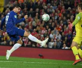 Morata marcó el único gol del Chelsea. AFP