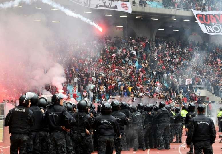 Los disturbios fueron de consideración. AFP