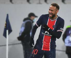 Neymar scored as PSG beat Marseille in the French Super Cup. AFP