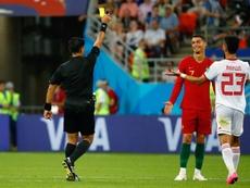 Ronaldo deserved red for elbow, says Iran coach Queiroz. AFP