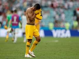 Cahill se marcha como máximo goleador de Australia. AFP