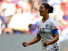 Carli Lloyd #10 of the United States celebrates scoring the opening goal against Japan in the FIFA Womens World Cup Canada 2015 Final at BC Place Stadium on July 5, 2015 in Vancouver, Canada
