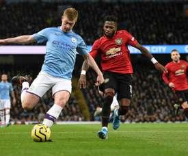 Fred a été victime d'insultes racistes lors du derby. AFP