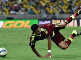 El internacional por Venezuela sufrió una grave lesión. AFP
