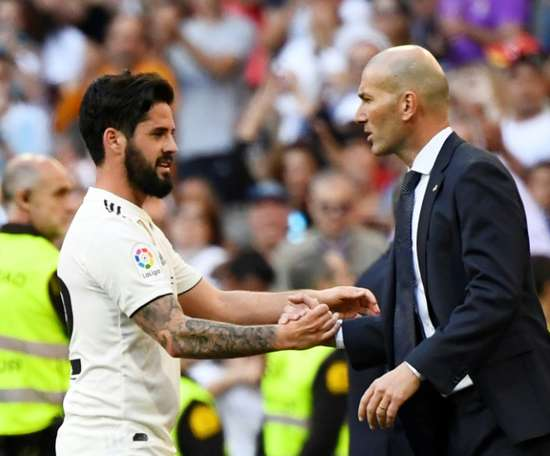 Zidane and Isco have both returned for Real Madrid. AFP