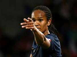 Wendie Renard scored twice for France in the opening game. AFP