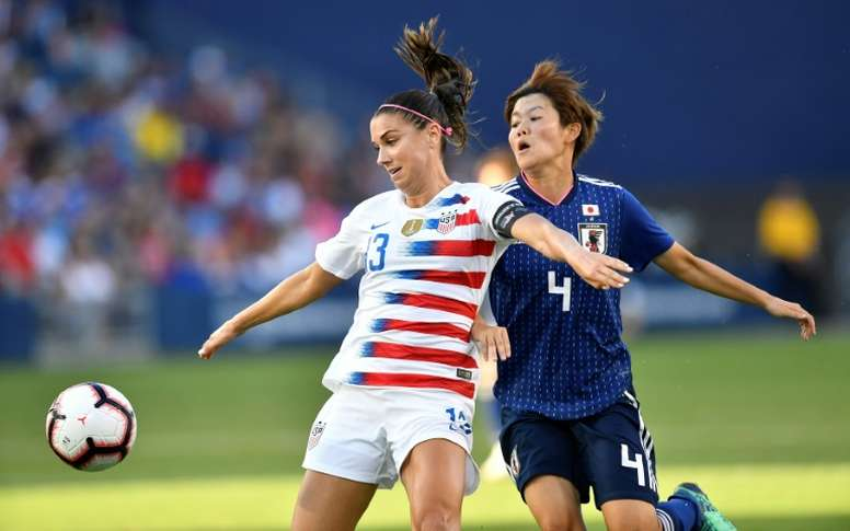 7478799ca11 Hat-trick for captain Alex Morgan as US women sink Japan - BeSoccer