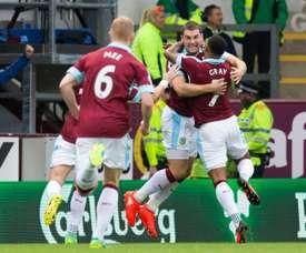 El Burnley fue muy superior al Chelsea. AFP