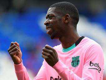El Barça se pone serio con la renovación de Dembélé. AFP