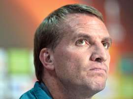 Liverpools manager Brendan Rodgers attends a press conference at the Matmut Atlantique stadium in Bordeaux, on the eve of an UEFA Europa League match, on September 16, 2015