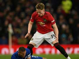 Scott McTominay is not far off returning from injury. AFP