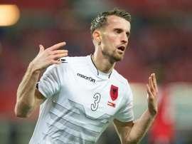 Albania ofrece buenas sensaciones en su rodaje a la Eurocopa. AFP