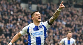 Anthony Knockaert scored the opening goal against Derby. AFP