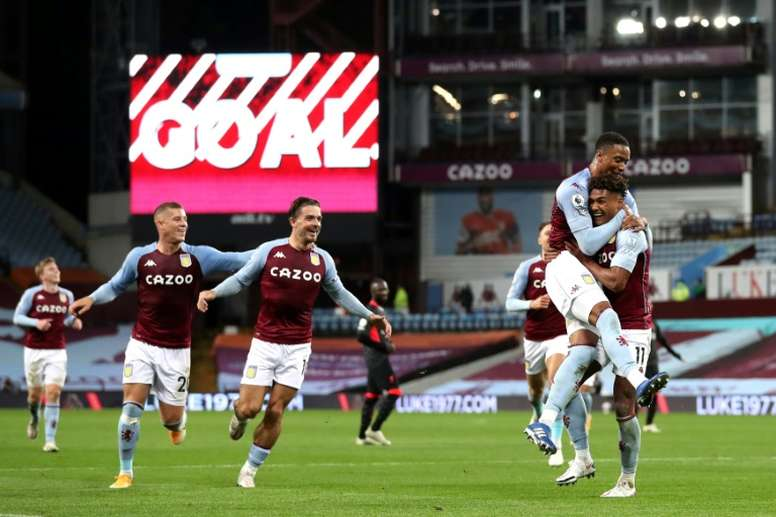 Villa destroyed the champions. AFP