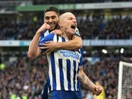 Brighton won 2-0. AFP