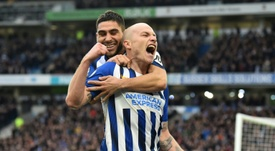Brighton won 2-0. AFP