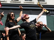 USA celebrated their Women's World Cup win with their own fans. AFP