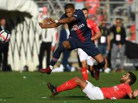 Kylian Mbappe will miss PSG's match against AS Saint-Étienne through suspension. AFP