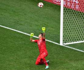 Muslera made a terrible misjudgement which led to France's second goal. AFP