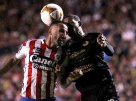 Atlético San Luis venció a los hombres de Maradona. AFP
