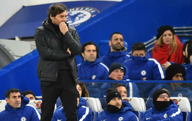 Conte will be hoping his team can bounce back from their back-to-back losses. AFP