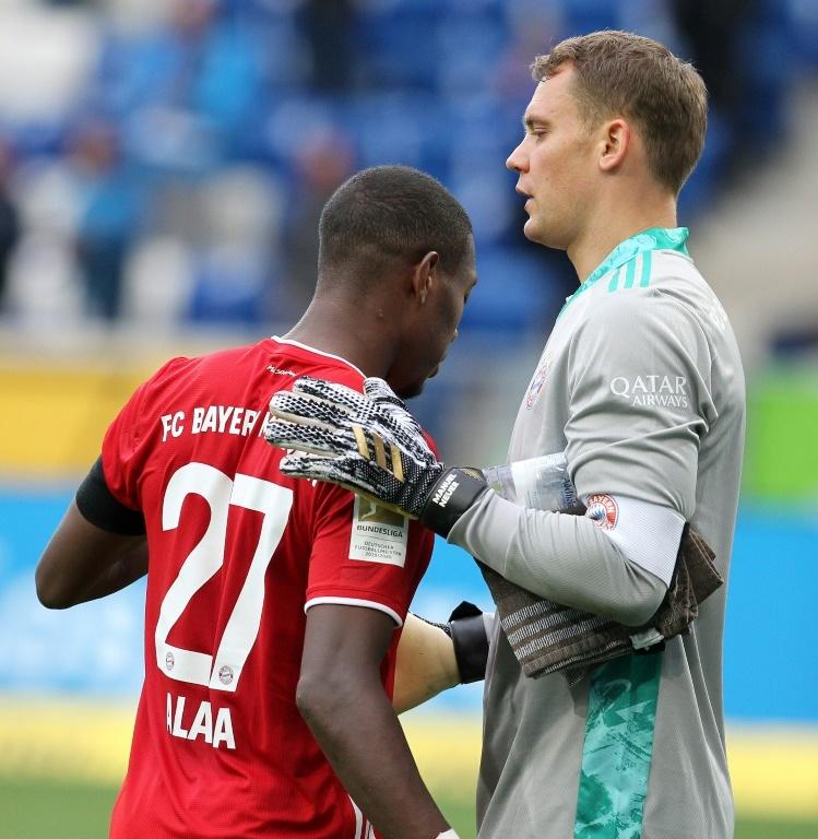 Bayern Munich are struggling to renew Alaba. AFP
