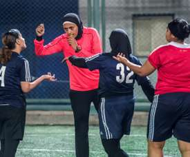 Female referees are slowly becoming more visible in Egypt. AFP