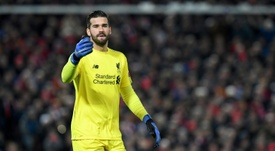 Jurgen Klopp hailed goalkeeper Alisson for his wonder save against Napoli. AFP