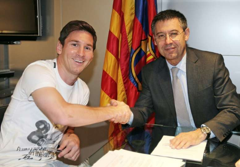 Bartomeu is resigned to losing Messi. AFP
