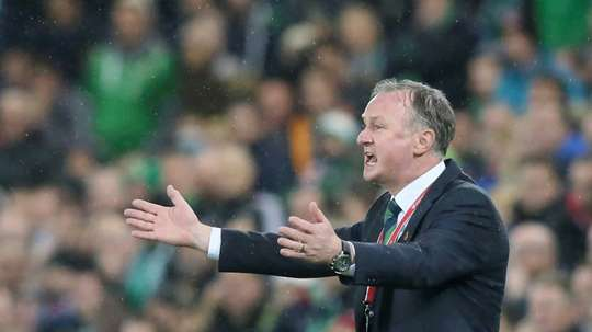 Michael O'Neill was positive in defeat against Bosnia. AFP