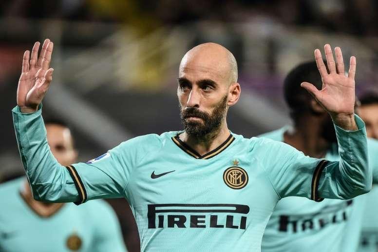 Borja Valero se queda en el Inter. AFP
