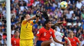 Endler fue nombrada jugadora del partido. AFP