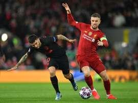 Henderson has felt 'safe' since return to Liverpool training. AFP