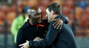 Mixed emotions for Mamelodi Sundowns coach Mosimane after cup win. AFP