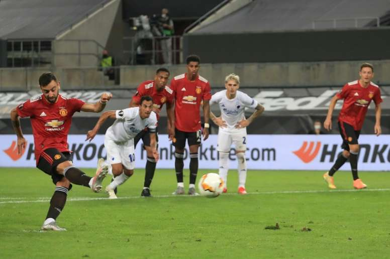 Bruno Fernandes' penalty was the difference between the two sides. AFP