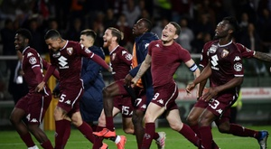 Torino secured a 2-0 win against AC Milan on Sunday. AFP