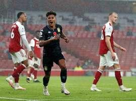 Ollie Watkins scored a double in Aston Villas 3-0 win over Arsenal. AFP