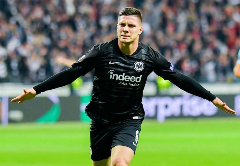 Jovic llegará cedido hasta final de temporada al Eintracht. AFP