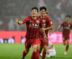 Wu Lei joue en Chine. AFp