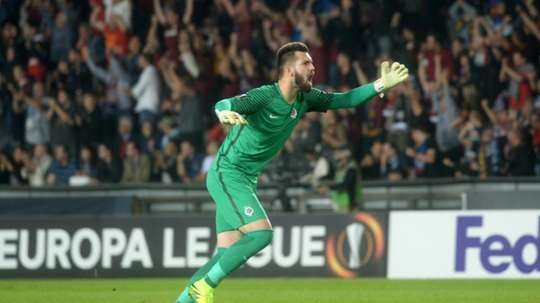 Tomas Koubek, pictured in September 2016, and midfielder Lukas Vacha were each fined 40,000 koruna (1,500 euros) for telling a female referee to go back to the kitchen