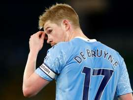 Kevin De Bruyne could not inspire Manchester City to beat West Brom. aFP