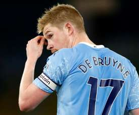 Kevin De Bruyne is in negotiations over his contract. AFP