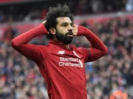 Salah poderia tirar a Bola de Ouro de Messi. AFP