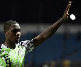 Ighalo scored twice in Nigeria's win against Cameroon. AFP