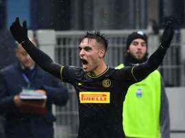 Lautaro Martinez fuelling Inter's ambitions at home and abroad. AFP