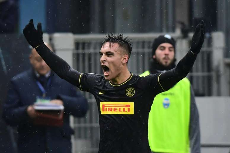 Zanetti is confident Lautaro will turn down Barca's interest. AFP