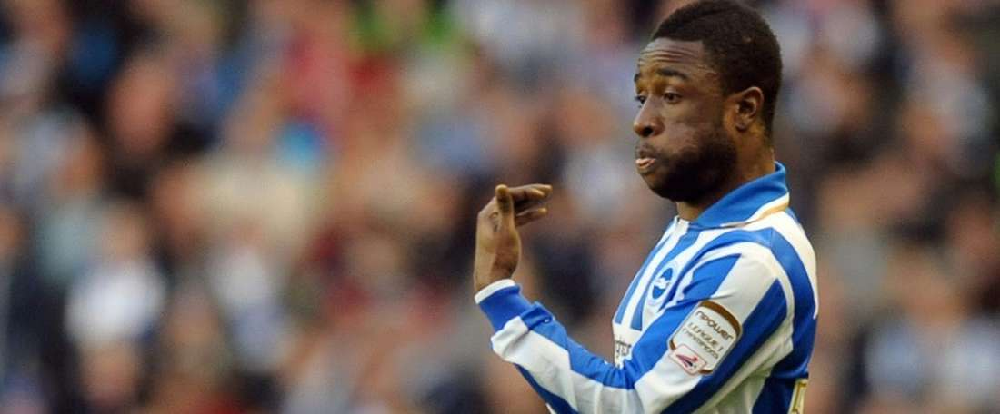 Brightons Kazenga LuaLua, pictured in action on February 19, 2012, had a fine strike to seal a 1-0 victory over Nottingham Forest