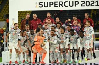 VIDEO : Le Bayern Munich soulève la Supercoupe d'Allemagne 2021. AFP