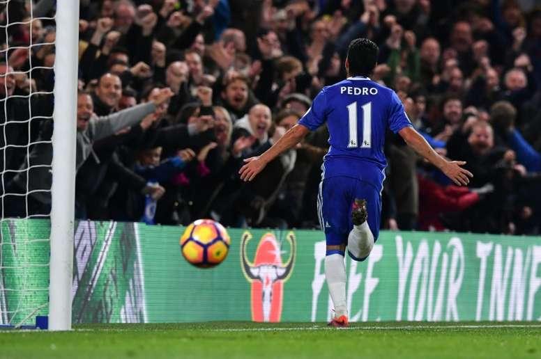 Pedro volvió a ver puerta, esta vez en la FA Cup. AFP